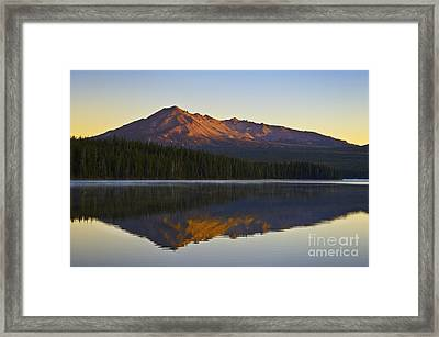 Summit Lake And Diamond Peak Framed Print