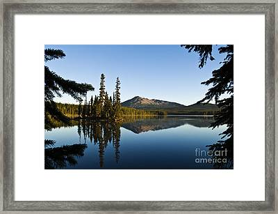 Summit Lake Framed Print