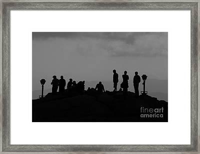 Summit People Framed Print by David Lee Thompson