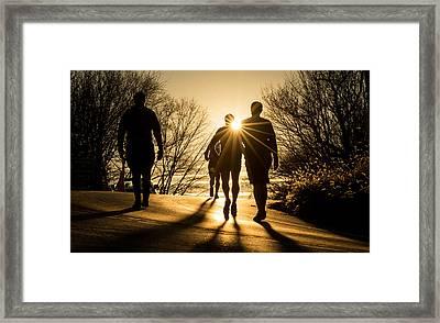Summit Run Framed Print