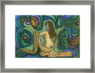 Summoning Brigit Framed Print by Natalie Roberts
