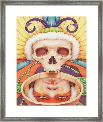 Summoning The Ancestors Framed Print by Amy S Turner