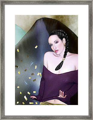 Summoning The Muses - Self Portrait Framed Print by Jaeda DeWalt