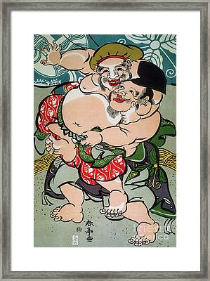 Sumo Wrestling Framed Print by Granger