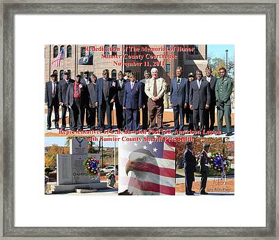 Sumter County Memorial Of Honor Framed Print by Jerry Battle