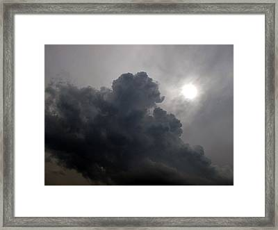 Sun Above The Clouds  Framed Print