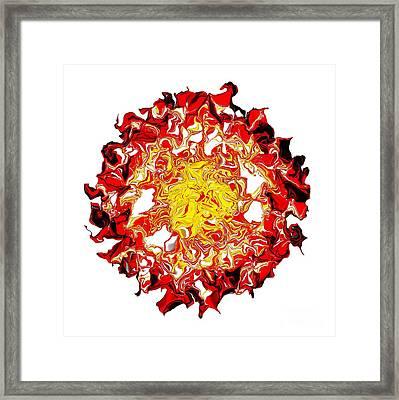 Sun Abstract Art By Kaye Menner Framed Print by Kaye Menner