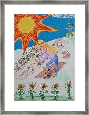 Sun And Garden Framed Print