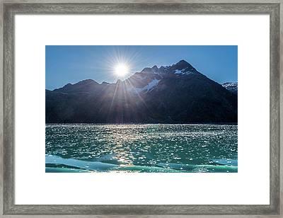 Sunshine And Ice Framed Print
