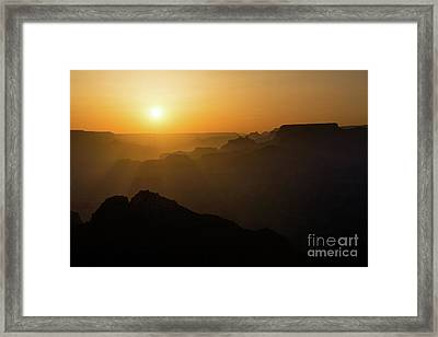 Sun And Layers Framed Print