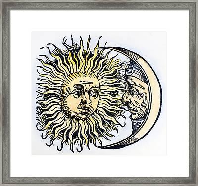 Sun And Moon, 1493 Framed Print by Granger