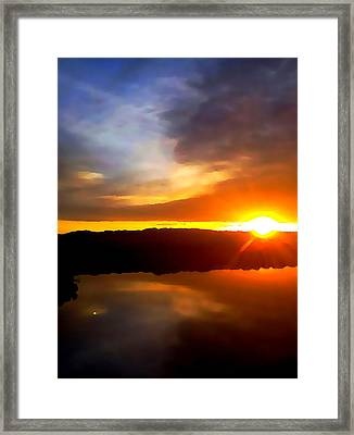 Sun And Moon Duet Framed Print by Wild Thing