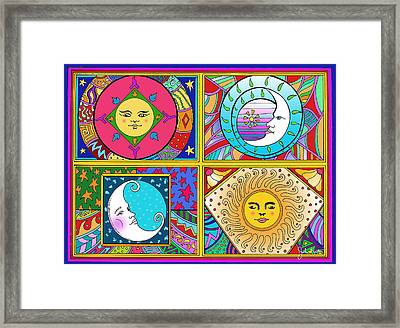 Sun And Moon Ensemble Framed Print by John Keaton