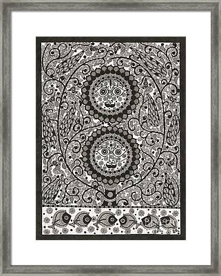 Sun And Moon Framed Print