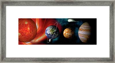 Sun And Planets Framed Print
