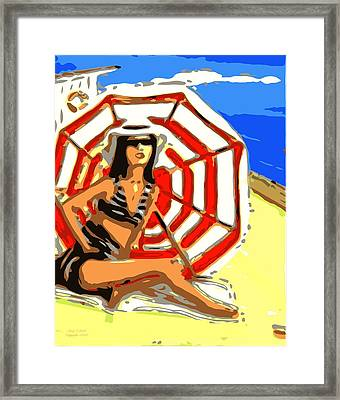 Sun And Sand Framed Print