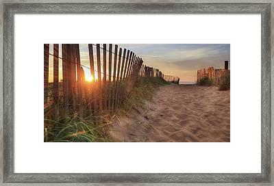 Sun And Sand Framed Print by Lori Deiter
