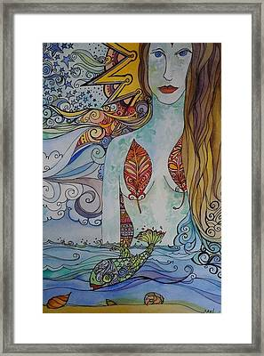 Sun And Sea Godess Framed Print