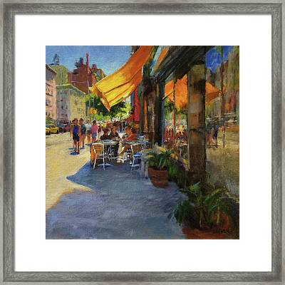 Sun And Shade On Amsterdam Avenue Framed Print by Peter Salwen