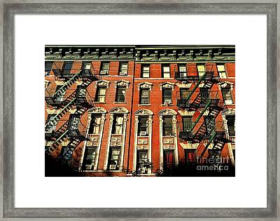 Sun And Shadow - The Rhythm Of New York Framed Print