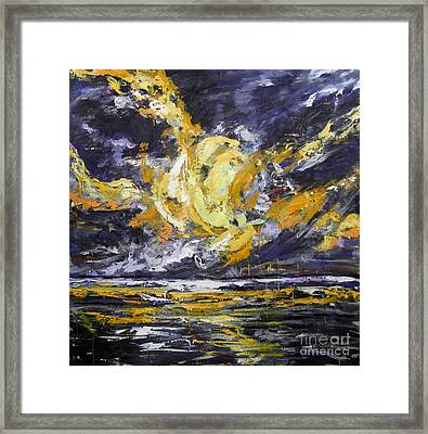 Framed Print featuring the painting Sun And Sky by Debora Cardaci