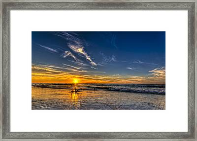 Sun And Surf Framed Print by Marvin Spates