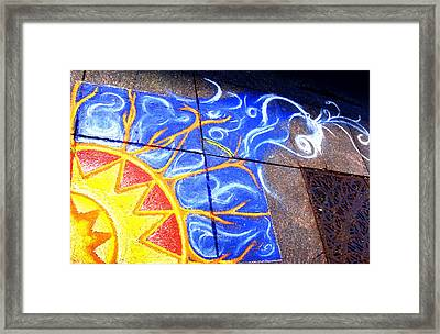 Sun And The Wind Framed Print by Chris Montecalvo