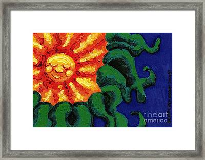 Sun Baby Framed Print