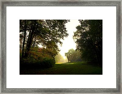 Sun Beams In The Distance Framed Print
