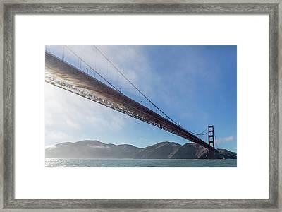 Sun Beams Through The Golden Gate Framed Print by Scott Campbell