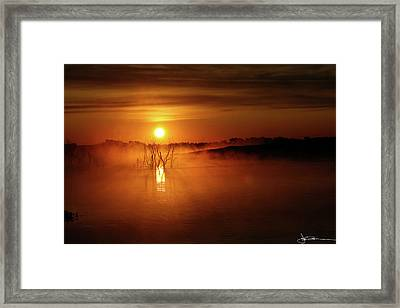 Sun Birth Framed Print