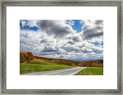 Sun /break Road Framed Print by Nathan Larson