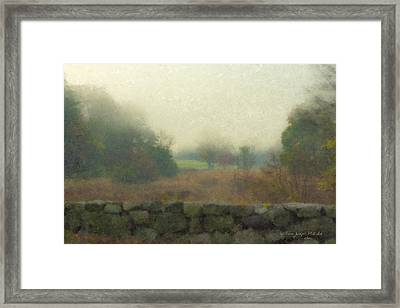 Sun Breaking Through Framed Print
