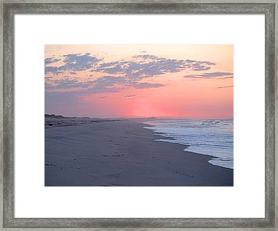 Framed Print featuring the photograph Sun Brightened Clouds by  Newwwman