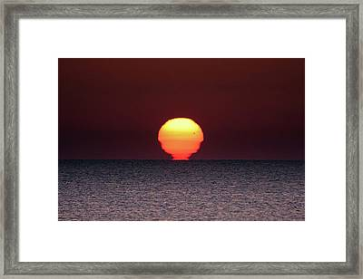 Framed Print featuring the photograph Sun by Bruno Spagnolo