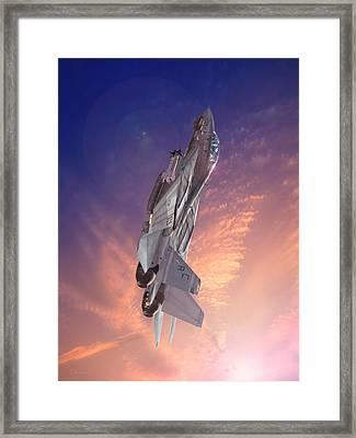 Sun Burst Framed Print by Dorian Dogaru