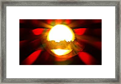 Framed Print featuring the photograph Sun Burst by Eric Dee