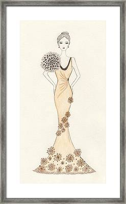 Sun Burst Gown Framed Print by Christine Corretti