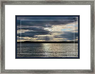 Sun Burst Sunset, Framed Framed Print by Sandra Huston