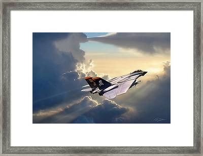 Sun Chaser Vf-84 Framed Print by Peter Chilelli