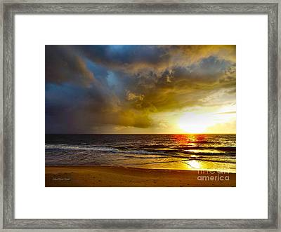Sun Chasing The Storm Away Framed Print