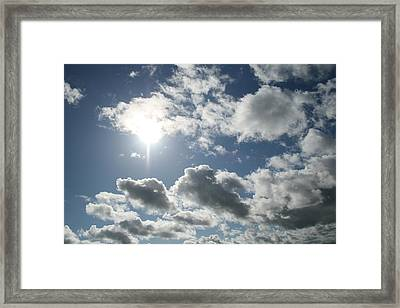 Sun Clouds Framed Print by Joshua Sunday