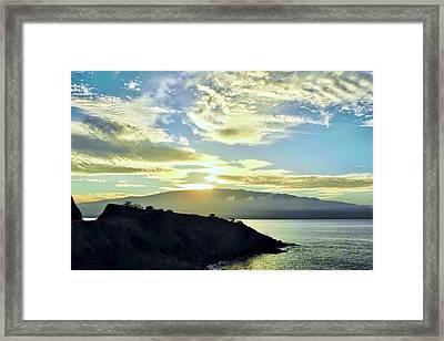 Sun Cresting Haleakala Framed Print