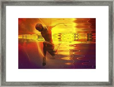 Framed Print featuring the digital art Sun Dancer by Shadowlea Is