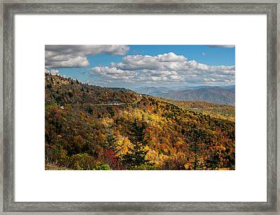 Sun Dappled Mountains Framed Print