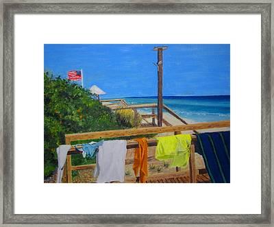 Sun Deck Framed Print by John Terry
