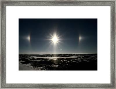 Sun Dogs Besides Settig Sun Framed Print by Mark Duffy