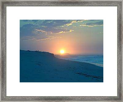 Framed Print featuring the photograph Sun Dune by  Newwwman