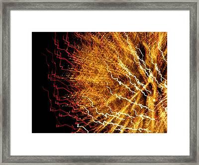 Sun Firework Framed Print by Cat Jackson