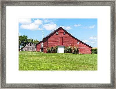 Sun Flower Barn Framed Print
